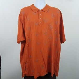 Robert Graham Men's Orange w/ Logo Polo Shirt